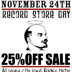 Black Friday Record Store Day Sale Friday Nov. 24th