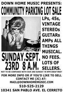 Down Home Audio Flea Market Sunday, Sept  23rd 8AM – Down
